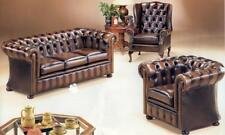 Leather Chesterfield 3str & Wing chair 100% Australian Manufactured @ GoldCoast