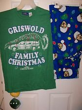 Griswold Christmas Vacation Pajama Pants Lounge PJ 2 Piece Set Mens Small NWT