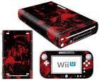 Nintendo Wii U Skin Design Foils Sticker Screen Protector Set - Black Blood