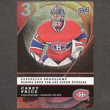 CAREY PRICE  2008/09 UD Mcdonald's Superstar Spotlight #IS1  Montreal Canadiens