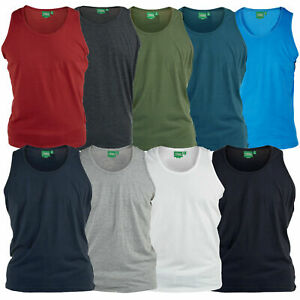 Mens Vest D555 Athletic Gym Beach King Size Sleeveless Top Casual
