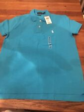 Bnwt Ladies Blue Ralph Lauren Polo Top Size M. Rrp £85