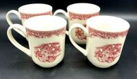Twas the Night before Christmas by Johnson Bros. Set of 4 Mugs Excellent