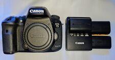Canon EOS 7D Mark II 20.2MP Digital SLR Camera - Black (Body Only) + 2 batteries