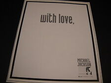 MICHAEL JACKSON 1994 MJJ Productions PROMO DISPLAY AD With Love.... mint cond