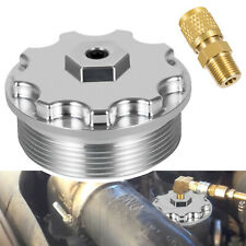 Fuel Filter Cap with Fuel Pressure Port Aluminum for 03-07 Ford Powerstroke 6.0L