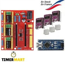 Kit CNC Shield V4.0 + Arduino Nano 3.0 + 3 Pilotes ( DRV88 ou A4988 ) TimerMart