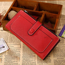 Fashion Lady Women's Leather Clutch Wallet Long Card Holder Cases Purse Handbags