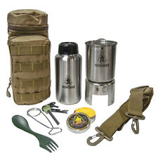 Pathfinder Stainless Steel Bottle Cooking Kit | Pot Pan Cup Bushcraft Survival