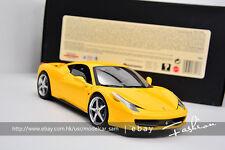 Hot wheels 1:18 ferrari 458 2010 Yellow