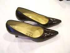 Sro Lewis brown crocodile pumps/heels/shoes, sz. 6Aaa (narrow) vintage