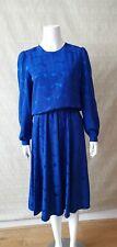 Unbrand womem dress blue long sleev Midi size 12