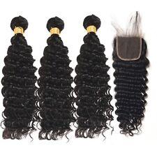 "Malasia Virgin Hair Rizos Profundos 3 Paquetes 66cm28"" 30"" With 55.9cm 4 By 4"