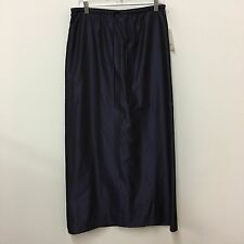 Anne Klein skirt long deep violet stretch waist lined side pockets NWT Size 10