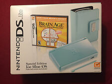 Brand New Factory Sealed Special Edition Ice Blue DS Lite Brain Age Bundle