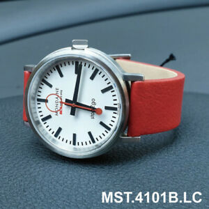 MONDAINE MST.4101B.LC Stop2Go BackLight 41mm Leather Strap Men's Watch