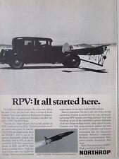 3/73 PUB NORTHROP RPV MOJAVE PACKARD RADIOPLANE RP-4 DRONE MQM-74 CHUKAR AD