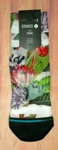 STANCE KIDS BOYS YOUTH FLORAL TROPICAL CASUAL CREW SOCKS SIZE S (7-10)