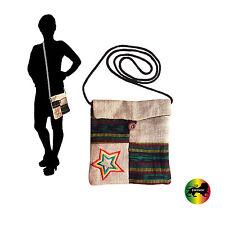 Burlap Passport String Shoulder Bag Reggae Bags Rasta Style Marley Hippie IRIE