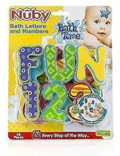 Nuby Bath Letters and Numbers - Tub Alphabet Foam Multicoloured