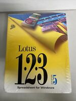 Lotus 123 Release 5 Upgrade Spreadsheet Windows 3.1 DOS 3.5 Disk R5 New Sealed