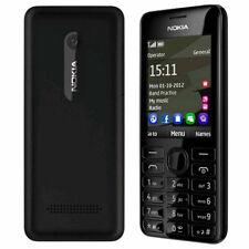 Nokia 206 originale GSM tastiera ebraica telefono sbloccato MP3 Dual SIM Nero