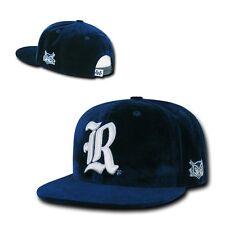 NCAA Rice Owls University Flat Bill Velvet Snapback Baseball Caps Hats