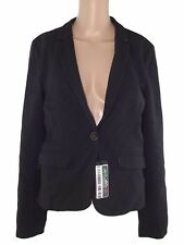 pull and bear donna giacca blazer nero 1 uno bottone taglia eur m medium