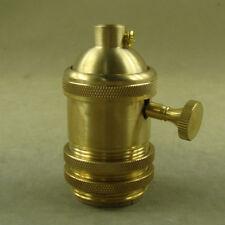 Brass Vintage Retro Antique Edison E26/E27 Lamp Light Bulb Holder Socket Decor