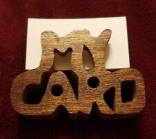 """New listing Vintage """"My Card"""" Cut Out Desk Wood Business Card Holder"""