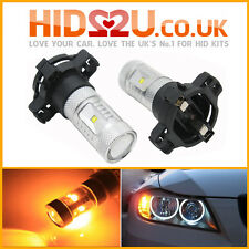 2x CANBUS PY24W 30W CREE AMBER LED TURN SIGNAL INDICATOR BULBS ERROR FREE