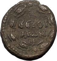 TRAJAN 98AD Beroea in Cyrrhestica Laurel Authentic Ancient Roman Coin i56584