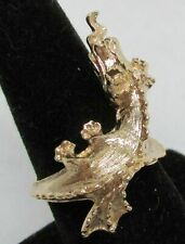 VINTAGE 14KT SOLID GOLD DRAGON RING SIZE 8