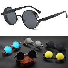 2017 Steampunk Sunglasses Brand Design Mens Round Sun glasses Women T