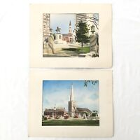 Delaware Watercolors By Davis Gray, New Castle & Wilmington Delaware Lot of 2