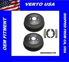 Verto USA Set Of 2 Rear Drums & Shoes For Toyota Sienna 1998-2003,DR35068X2/729