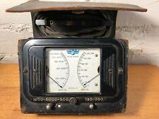 Vintage General Motors Frigidaire Volt Watt Meter Distressed Leather Case 1918