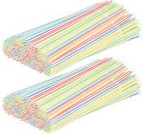 400 Flexible Trinkhalme, Strohhalme in verschiedenen bunten Farben