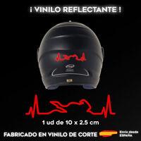 VINILO CARDIOMOTO ROJO REFLECTANTE STICKER PEGATINA MOTO CASCO ADHESIVO
