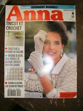 Anna - Burda Ouvrages Manuels N°4  1992 Leçon tricot Patron Dentelle Broderie
