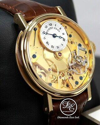 Breguet La Tradition 18K Yellow Gold Skeleton Dial 37mm Manual 7027BA119V6 *MINT