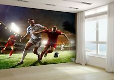 Soccer Players in Action Wallpaper Mural Photo 50565180 budget paper