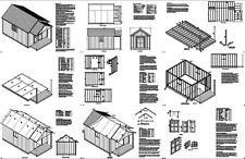 20' x 12' Guest House / Garden Porch Shed Plans #P72012, Free Material List