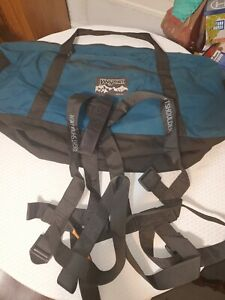 Large Jansport Climbing Gear Duffel Bag Made In USA Canvas Full Body Harness 🌳