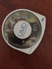 DEAD TO RIGHTS RECKONING SONY PLAYSTATION PSP UMD VIDEO GAME LOOSE