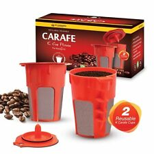 2 Refillable/Reusable K-Carafe Cup Filters by Housewares Solutions for Keurig 2.