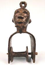 Art Africain Arts Premiers - Superbe Poulie en Bronze Baoulé Janus - 14,7 Cms ++