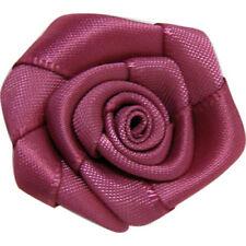 10 roses en tissu rose antique 30mm