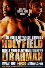 Vintage Original Evander Holyfield vs. Hasim Rahman Boxing Fight Poster