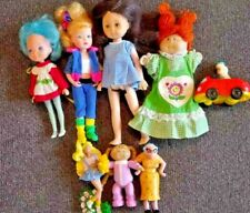vintage 8 piece lot of miniature dolls and car toy